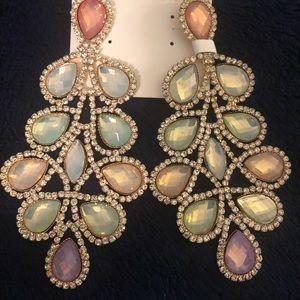 Natasha frosted drop earrings